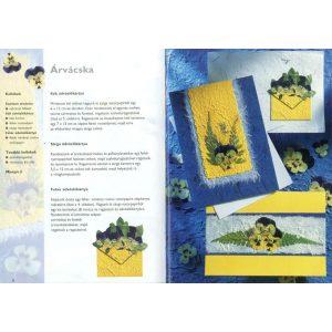 Üdvözlőkártyák szárított virágokkal
