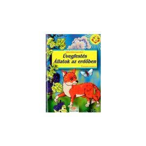 Üvegfestés - Állatok az erdőben