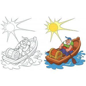 Színezz kalózokat (narancs)