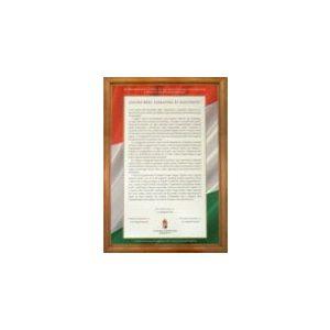 Politikai nyilatkozat tabló (keretes)