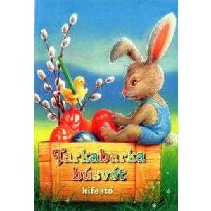 Tarkabarka húsvét - kifestő