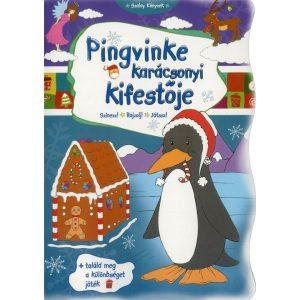 Pingvinke karácsonyi kifestője