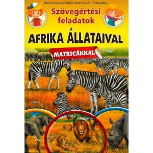 Szövegértési feladatok - Afrika állataival matricákkal