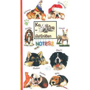 Kutyák az életünkben notesz
