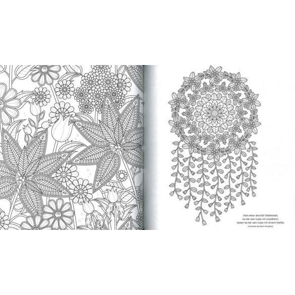 Virágos álmok - felnőtt színező