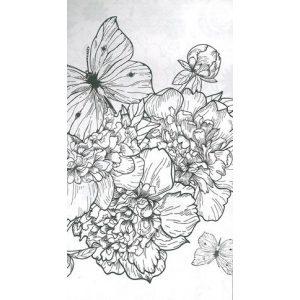 Relax kifestő: Virágok 12 ceruzával