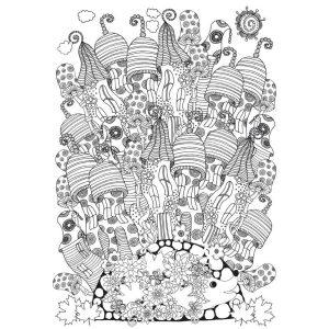 Óriás felnőtt színező (70x100cm) : Manóház