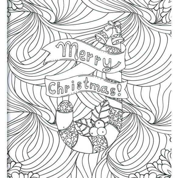 A karácsony színei - kifestőkönyv felnőtteknek