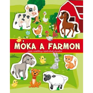 Móka a farmon-mesés modellkönyv társasjátékkal