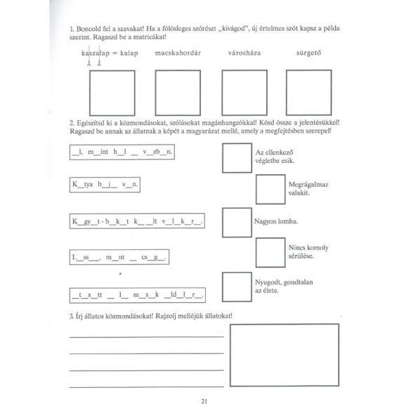 Feleselő nyelvművelő 3. osztályosoknak-170 matricával