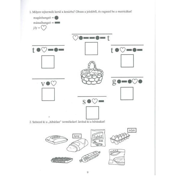 Feleselő nyelvművelő 2. osztályosoknak-170 matricával