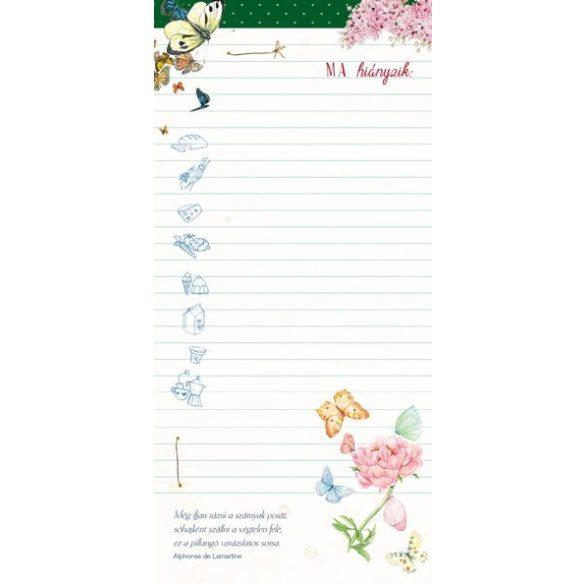 Pillangók mint repülő virágok - Bevásárló lista