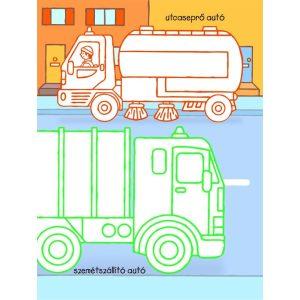 Teherautók és munkagépek - Első kifestőm