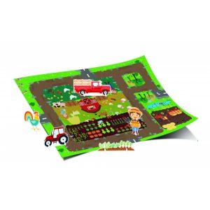 Óriás városkám - Kalandok a farmon      68x48 cm es kiteríthető játszótérképpel