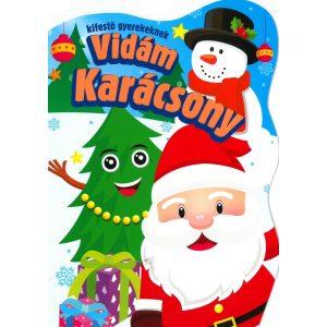 Vidám karácsonyi kifestő gyerekeknek
