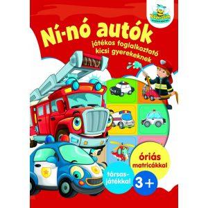 Ní-nó autók - Játékos foglalkoztató kicsi gyerekeknek   -   ÓRIÁS MATRICÁKKAL   plusz társasjáték   3+