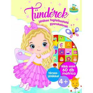 Tündérek - Játékos foglalkoztató gyerekeknek  , több mint 60 db matrica plusz társasjáték 4+