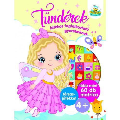 Tündérek - Játékos foglalkoztató gyerekeknek  , több mint 60 db matrica plusz társasjáték
