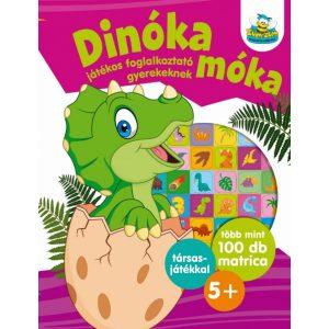 Dinóka móka - Játékos foglalkoztató gyerekeknek ,  Több mint 100 db matrica plusz társasjáték   5+
