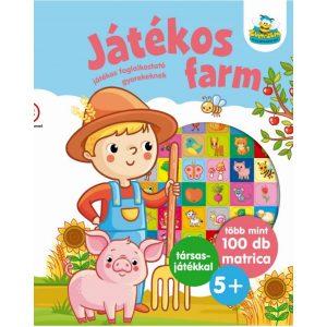 Játékos farm - Játékos foglalkoztató gyerekeknek   ,   több mint 100 db matrica   +   társasjáték