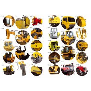 Óriás munkagépek - több, mint 40 matricával