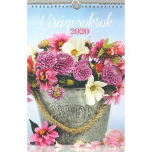 2020 Naptár: Virágcsokrok