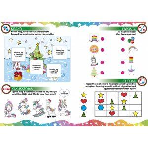 Unikornisok karácsonya-Játékos foglalkoztató gyerekeknek