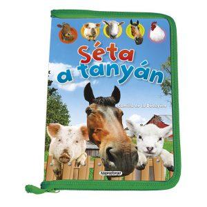 Séta a tanyán - a könyv egyedülálló módon ismerteti a  haszonállatok mindennapjait és az emberek életében betöltött szerepüket.