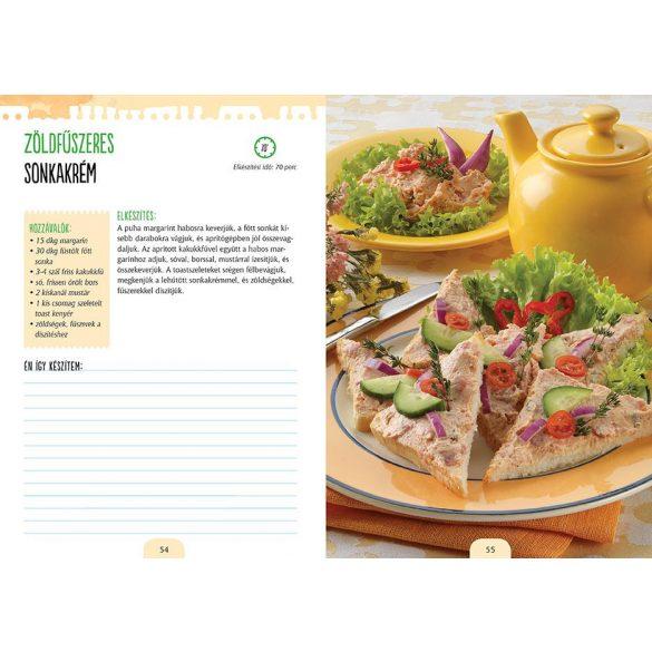 Vendégváró finomságok - válogatott receptek, jegyzetelhető oldalak