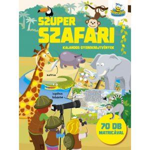 Szuper szafari - kalandos gyerekrejtvények 70 db matricával