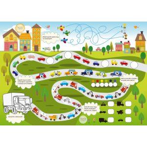 Játékos járművek - Kalandos gyerekrejtvények