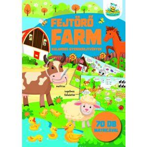 Fejtörő farm - kalandos gyerekrejtvények 70 db matricával