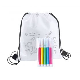 Színezhető hátizsák, tolltartó